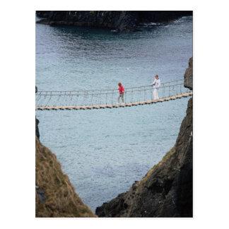 Carrick-A-Rede rope bridge, Ballintoy, Co. Antrim, Post Card