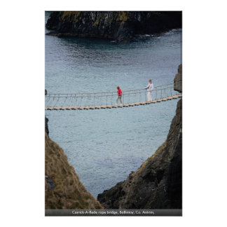 Carrick-A-Rede rope bridge, Ballintoy, Co. Antrim, Posters