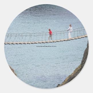 Carrick-A-Rede rope bridge, Ballintoy, Co. Antrim, Round Sticker