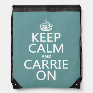 Carrie On Drawstring Backpack