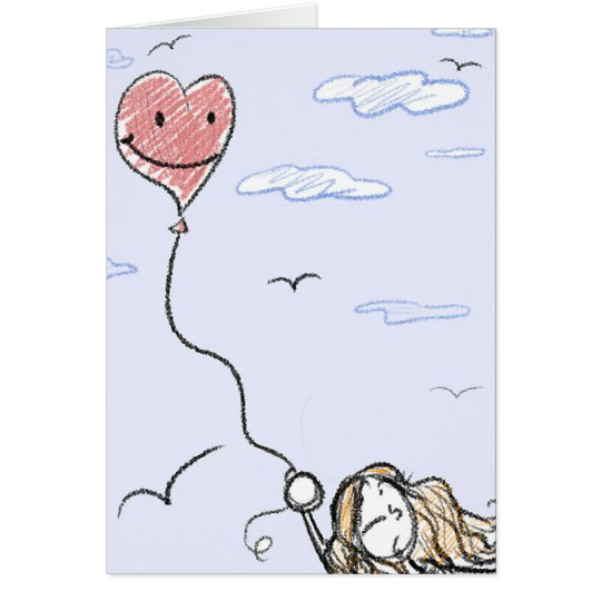 Carried Away By Love Greeting Card