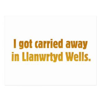 Carried Away In Llanwrtyd Wells Postcard