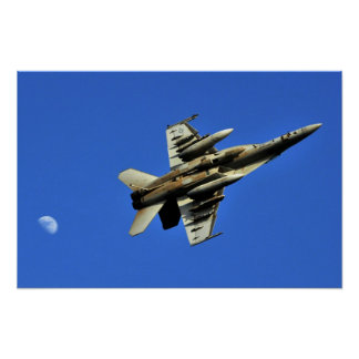 Carrier F-18 Rollover Poster