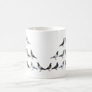 Carrier pigeons champions basic white mug
