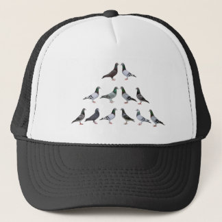 Carrier pigeons champions trucker hat