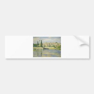 Carrieres-Saint-Denis by Claude Monet Bumper Sticker