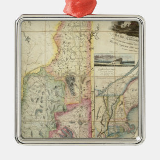 Carrigain Map of New Hampshire Christmas Ornament