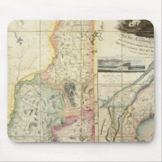 Carrigain Map of New Hampshire Mouse Mat