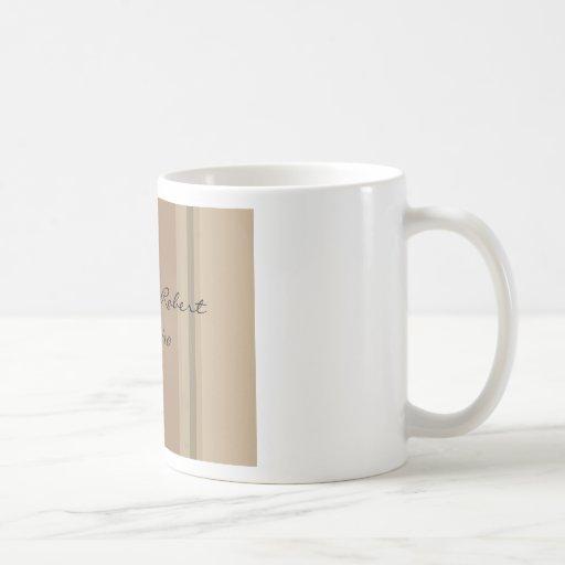 Carrington Stripe Basic White Mug