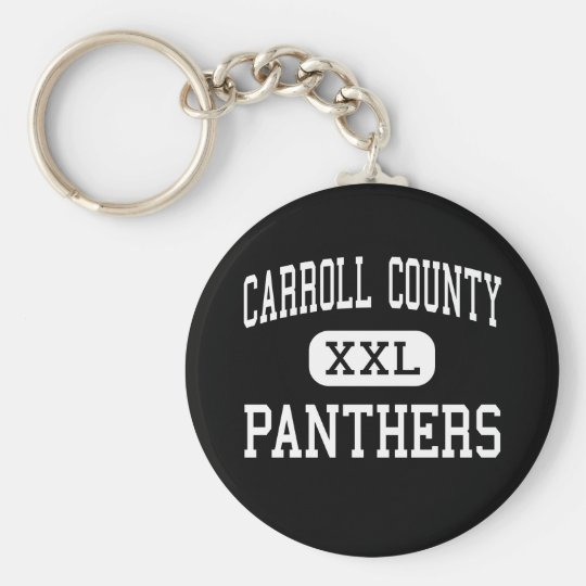 Carroll County - Panthers - High - Carrollton Basic Round Button Key Ring