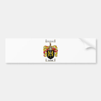 CARROLL FAMILY CREST -  CARROLL COAT OF ARMS BUMPER STICKER