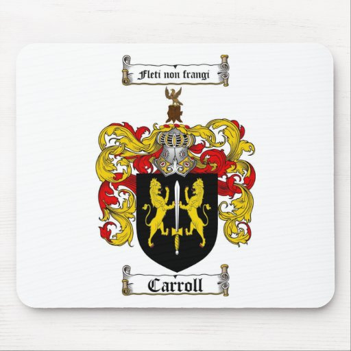 CARROLL FAMILY CREST -  CARROLL COAT OF ARMS MOUSE MATS