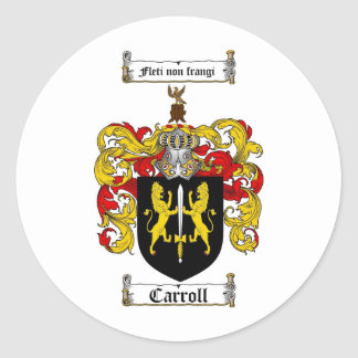 CARROLL FAMILY CREST -  CARROLL COAT OF ARMS STICKERS