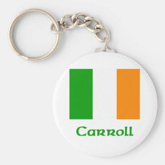 Carroll Irish Flag Keychain