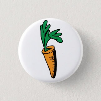 carrot 3 cm round badge