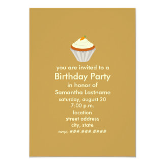 "Carrot Cake Cupcake Birthday Party Invite 5"" X 7"" Invitation Card"