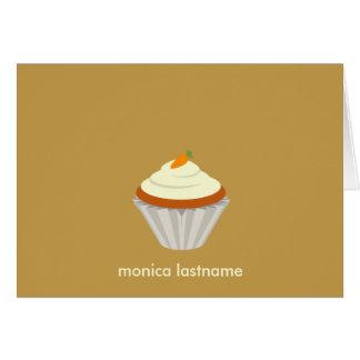 Carrot Cake Cupcake Personalized Notecard