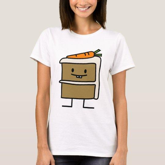Carrot Cake slice bunny teeth icing dessert T-Shirt