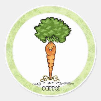 Carrot Cartoon - Veggie sticker