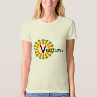 Carrot Circle Sun Vegetarian T-Shirt
