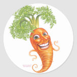 carrot classic round sticker