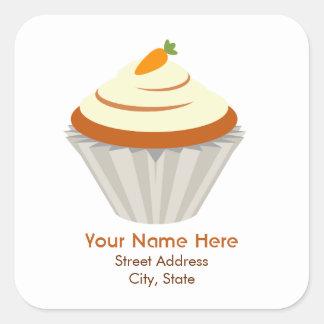 Carrot Cupcake Address Sticker