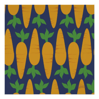 Carrot Garden At Night Posters