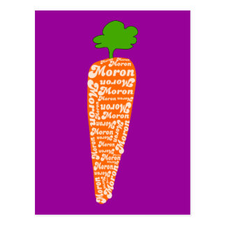 Carrot in Welsh is Moron - Funny Languages Postcard