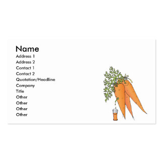 carrot juice pack of standard business cards
