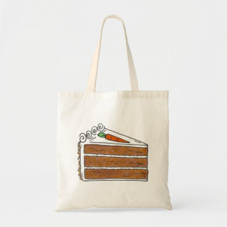 Carrot Layer Cake Slice Dessert Baking Foodie Tote Budget Tote Bag