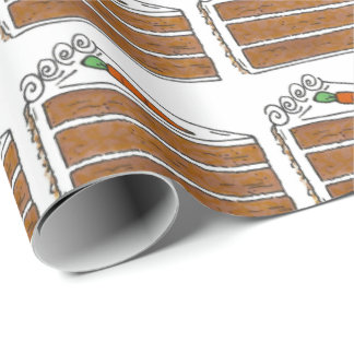 Carrot Layer Cake Slice Foodie Dessert Gift Wrap