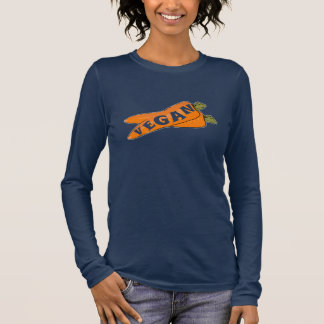 Carrot - Long Sleeve Vegan T shirt