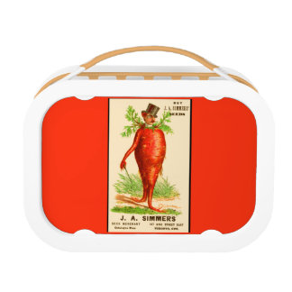 carrot man Victorian trade card Lunch Box