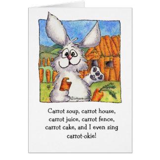 Carrot-okie Abunnydance Card
