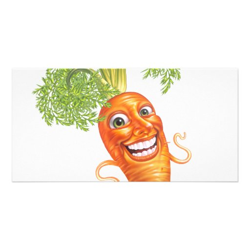 carrot personalized photo card