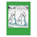 Carrot Smell Happy Holiday Joke Paper Card