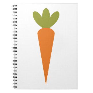 Carrot Spiral Note Books