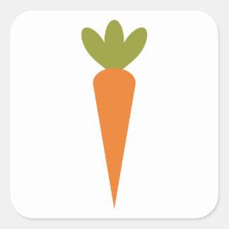 Carrot Square Sticker