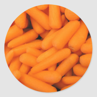 Carrot Sticks Classic Round Sticker