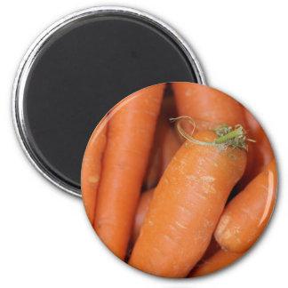 Carrots 6 Cm Round Magnet