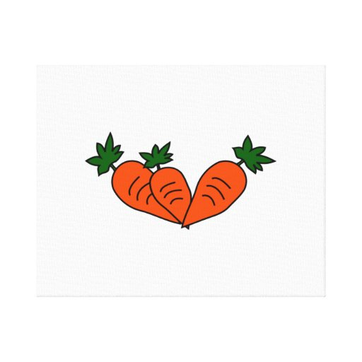 Carrots Stretched Canvas Print