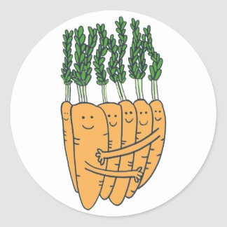 Carrots Classic Round Sticker
