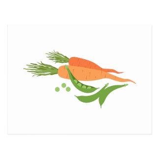Carrots & Peas Postcard
