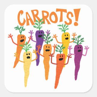 Carrots! Square Sticker