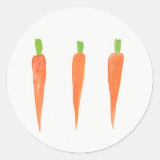 Carrots Round Sticker