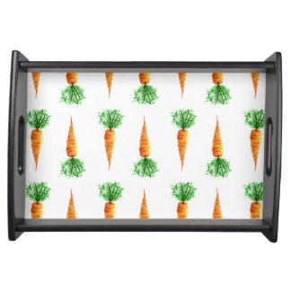 Carrots watercolor modern pattern serving tray