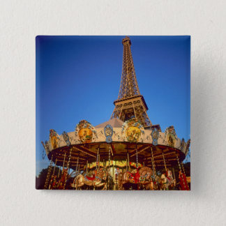 Carrousel, Eiffel Tower, Paris, France 15 Cm Square Badge
