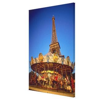 Carrousel, Eiffel Tower, Paris, France Canvas Print