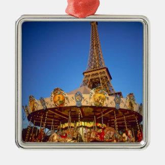 Carrousel, Eiffel Tower, Paris, France Christmas Ornament