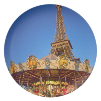 Carrousel, Eiffel Tower, Paris, France Dinner Plate